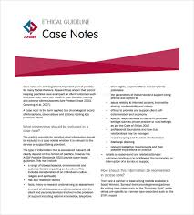 case notes template u2013 7 free word pdf documents download free