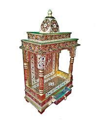 beautiful meenakari multicolor home puja mandir hindu temple