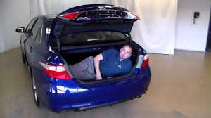 toyota camry trunk camry trunk space youtube