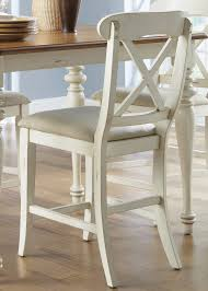 Counter Height Kitchen Island Table Weston Home Ohana Counter Height Chair Antique White U0026 Cherry
