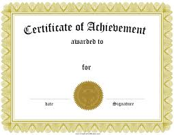 doc award certificate template certificate templates