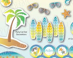 Summer Party Decorations Beach Party Summer Party Beach Birthday Surf Party Beach