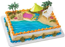 themed cake decorations chair and umbrella decoset cake decoration toys