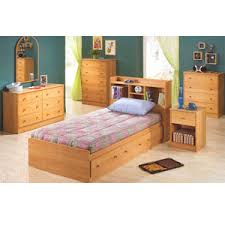 childrens bedroom furniture oak twin bed with bookcase headboard