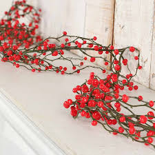 artificial berry garland garlands and