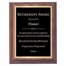 retirement plaque wording plaques with sayings awards2you