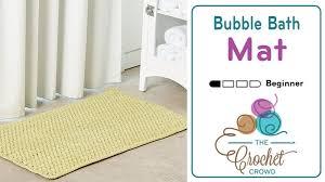 Bathtub Bubble Mat Crochet Bubble Bathmat Tutorial The Crochet Crowd
