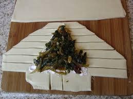 vegan christmas tree pastries