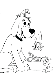 coloring page of a big dog clifford coloring pages coloring pages page cliffords first