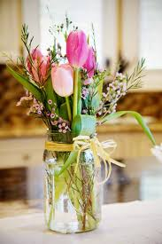 tulip arrangements jar floral arrangement let s party floral