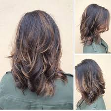 cute shoulder length haircuts longer in front and shorter in back medium length layered hairstyles medium hairstyles for women
