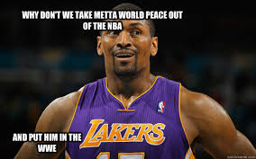 Metta World Peace Meme - why don t we take metta world peace out of the nba and put him in