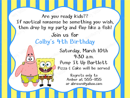 spongebob birthday invitation template u2013 orderecigsjuice info
