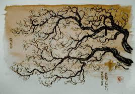 Peinture Cerisier Japonais by C Novel Dessins Fleurs Et Arbres