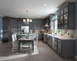 luxury kitchen design with grey painted kitchen maid cabinet