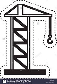 construction crane service icon vector illustration design stock