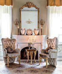 Gold Accent Chair Premium Royal Accent Chair With Plush Intricate Gold Leafed Carvings