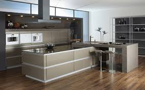 Kitchen With Bar Table - beautiful design and modern white kitchens with kitchens island