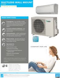 ductless mini split daikin mini split 24 000 btu daikin lv series 20 seer heat pump system
