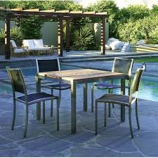 tiburon 5 pc dining table set map kingsley bate tiburon 5 piece dining set outdoor dining