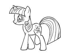 my little pony friendship is magic coloring pages for little girls