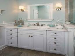 Sea Glass Bathroom Ideas Colors Beach Themed Bathroom Paint Colors Floating Bench Having Black