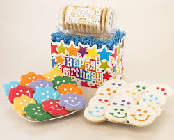 Happy Birthday Gift Baskets Birthday Cookie Gifts Smiley Sugar Cookie Hearts