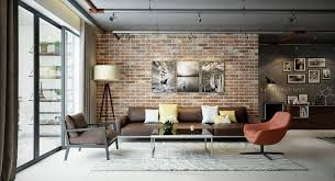 images of livingrooms industrial living rooms with eccentric brick walls living room ideas