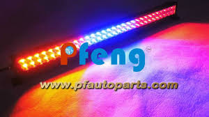 multi color strobe led light bar 31 5 inch 180w