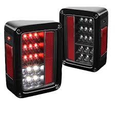 jeep wrangler custom lights 2007 2015 jeep wrangler full led performance tail lights black