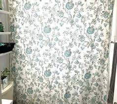 shower curtains with valance ruffled double swag shower curtain