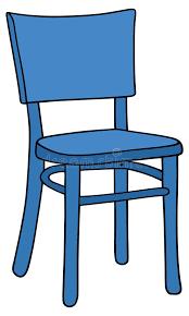chaise bleue chaise bleue illustration de vecteur illustration du 35214859