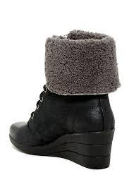 ugg zea sale ugg australia zea waterproof genuine shearling lined wedge boot