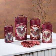 rooster canisters kitchen products rooster kitchen canisters ebay