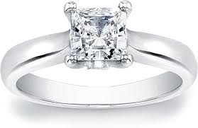 solitaire princess cut engagement rings princess cut solitaire engagement ring with