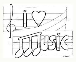 i love music coloring pages