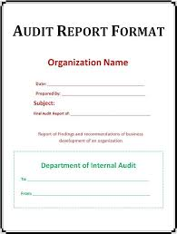 audit report formats 14 internal audit report templates free