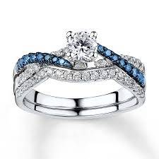 blue and white engagement rings wedding rings colored diamonds jewelers blue