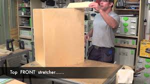 Kitchen Cabinet Building by Building Kitchen Cabinets Part 7 Assembling A Base Cabinet Youtube