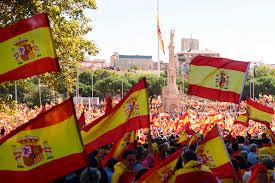 Picture Of Spain Flag Streit Um Katalonien Zehntausende Spanier Demonstrieren In Madrid