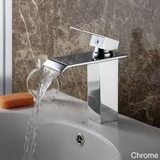 bathroom awesome brushed nickel waterfall bathroom faucet for