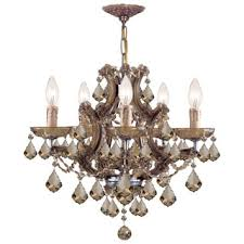 Antique Brass Chandelier Crystorama Maria Theresa Collection 12 Light Antique Brass