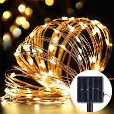 solar power led lights 100 bulb string solar power string light led light 10m 100 led sliver wire l