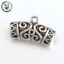 necklace pendant clasp images Diy tibetan style pendant clasp necklace connector bail beads jpg