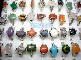 stone rings wholesale images Wholesale bulk assorted natural stone rings multi design mixed jpg