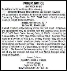 to bid morton college invitation to bid