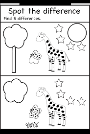 Preschool Worksheet Spot The Difference Encontrar Diferencias Spot Differences