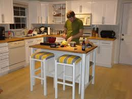 Stationary Kitchen Islands by On Budget Kitchen Islands Wheels Rustic Trends Also Portable