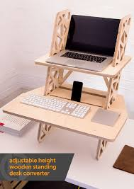 Convert Sitting Desk To Standing Desk by Adjustable Height Wooden Standing Desk Converter This Ergonomic