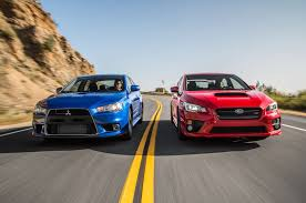 subaru sports car wrx the end of a rivalry mitsubishi lancer evolution mr and subaru